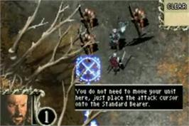 In game image of Lord of the Rings: The Third Age on the Nintendo Game Boy Advance.