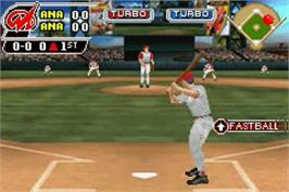 In game image of MLB SlugFest 20-04 on the Nintendo Game Boy Advance.