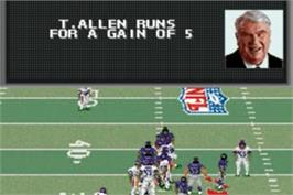 In game image of Madden NFL 2002 on the Nintendo Game Boy Advance.