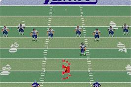 In game image of Madden NFL 2003 on the Nintendo Game Boy Advance.