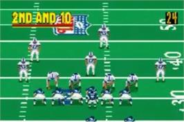 In game image of Madden NFL 2004 on the Nintendo Game Boy Advance.