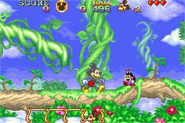 In game image of Magical Quest Starring Mickey & Minnie on the Nintendo Game Boy Advance.