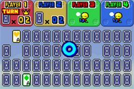 In game image of Mario Party-e on the Nintendo Game Boy Advance.