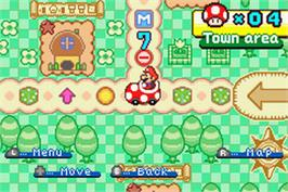 In game image of Mario Party Advance on the Nintendo Game Boy Advance.