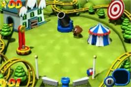 In game image of Mario Pinball Land on the Nintendo Game Boy Advance.