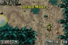 In game image of Medal of Honor: Infiltrator on the Nintendo Game Boy Advance.