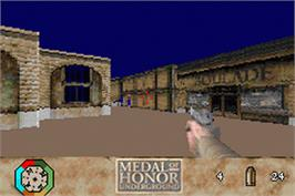 In game image of Medal of Honor: Underground on the Nintendo Game Boy Advance.