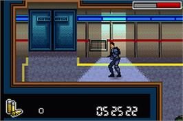 In game image of Mission Impossible: Operation Surma on the Nintendo Game Boy Advance.