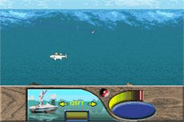 In game image of Monster! Bass Fishing on the Nintendo Game Boy Advance.