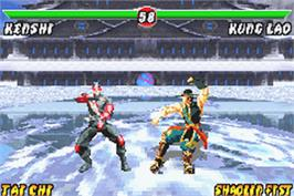 In game image of Mortal Kombat: Deadly Alliance on the Nintendo Game Boy Advance.