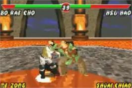 In game image of Mortal Kombat: Tournament Edition on the Nintendo Game Boy Advance.