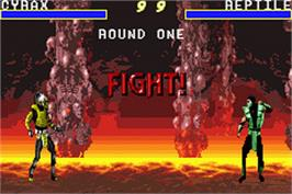 In game image of Mortal Kombat Advance on the Nintendo Game Boy Advance.