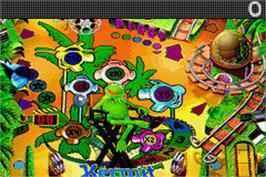 In game image of Muppet Pinball Mayhem on the Nintendo Game Boy Advance.