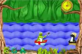 In game image of Muppets: On with the Show on the Nintendo Game Boy Advance.