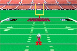 In game image of NFL Blitz 20-02 on the Nintendo Game Boy Advance.