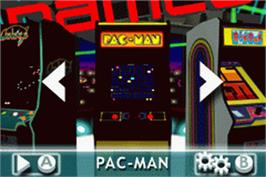 In game image of Namco Museum 50th Anniversary on the Nintendo Game Boy Advance.