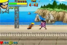 In game image of Naruto: Ninja Council on the Nintendo Game Boy Advance.