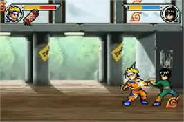 In game image of Naruto: Ninja Council 2 on the Nintendo Game Boy Advance.