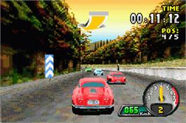 In game image of Need for Speed: Porsche Unleashed on the Nintendo Game Boy Advance.