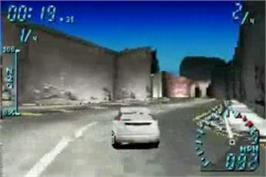 In game image of Need for Speed Underground on the Nintendo Game Boy Advance.