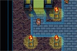 In game image of Oriental Blue: Ao no Tengai on the Nintendo Game Boy Advance.