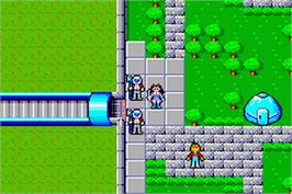 In game image of Phantasy Star Collection on the Nintendo Game Boy Advance.