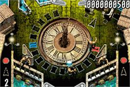 In game image of Pinball of the Dead on the Nintendo Game Boy Advance.