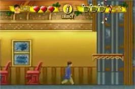 In game image of Polar Express on the Nintendo Game Boy Advance.