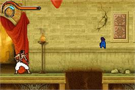 In game image of Prince of Persia: The Sands of Time on the Nintendo Game Boy Advance.