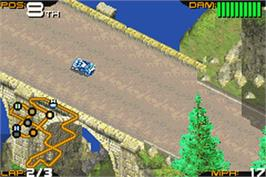 In game image of Racing Gears Advance on the Nintendo Game Boy Advance.
