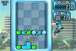 In game image of Rampage Puzzle Attack on the Nintendo Game Boy Advance.