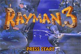 In game image of Rayman on the Nintendo Game Boy Advance.