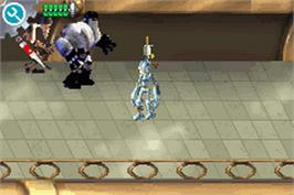 In game image of Robots on the Nintendo Game Boy Advance.