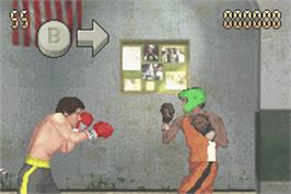 In game image of Rocky on the Nintendo Game Boy Advance.