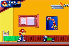 In game image of Rogue: The Adventure Game on the Nintendo Game Boy Advance.
