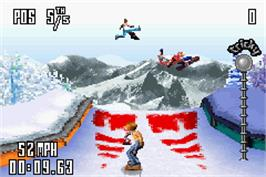 In game image of SSX Tricky on the Nintendo Game Boy Advance.