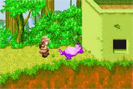 In game image of Sabre Wulf on the Nintendo Game Boy Advance.