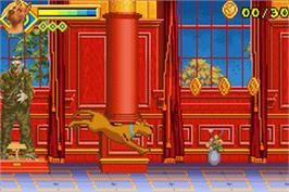 In game image of Scooby Doo 2: Monsters Unleashed on the Nintendo Game Boy Advance.