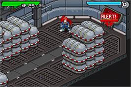 In game image of Scurge: Hive on the Nintendo Game Boy Advance.