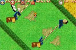 In game image of Sheep on the Nintendo Game Boy Advance.