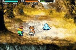 In game image of Shining Soul 2 on the Nintendo Game Boy Advance.