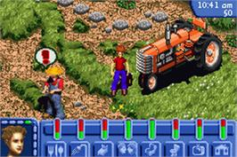 In game image of Sims on the Nintendo Game Boy Advance.