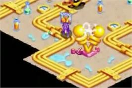 In game image of Spyro: Attack of the Rhynocs on the Nintendo Game Boy Advance.