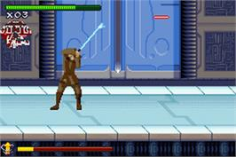In game image of Star Wars: Episode II - Attack of the Clones on the Nintendo Game Boy Advance.