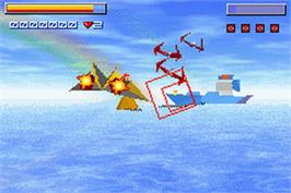 In game image of Star X on the Nintendo Game Boy Advance.