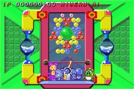 In game image of Super Bust-A-Move on the Nintendo Game Boy Advance.