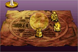 In game image of Tactics Ogre: The Knight of Lodis on the Nintendo Game Boy Advance.