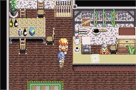 In game image of Tales of Phantasia on the Nintendo Game Boy Advance.