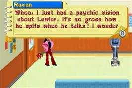 In game image of That's So Raven on the Nintendo Game Boy Advance.