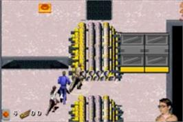 In game image of Thunderbirds: International Rescue on the Nintendo Game Boy Advance.